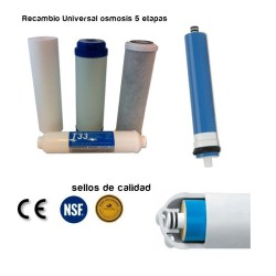 Pack 5 Filtros osmosis inversa