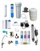 Repuestos varios para descalcificadores, osmosis inversa y otros.